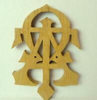 Alpha Tau Omega ATO Fraternity Wooden Wall Symbol Raw Wood Vintage 1999