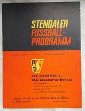 Programm 05.04.1970 Lok Altmark Stendal BFC Dynamo Berlin II DDR Oberliga DFV