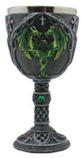 Medieval Green Dragon - Chalice/Wine Goblet
