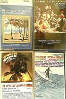 Lot Of 4 Hawaiian Music Cassettes Vintage 1980's Waikikis Sam Makia Leo Addeo +1