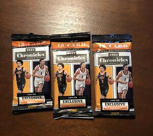 (3) 2021 Panini Chronicles Draft Picks NBA Basketball Cards Value Pack Sealed