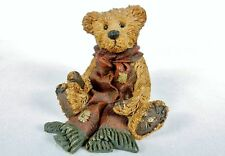Boyds Bears Bearstone Figurine Collection Gencille With Red Scarf Euc