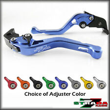 Strada 7 CNC Shorty Adjustable Levers Kawasaki ZX9 1994 - 1997 Blue