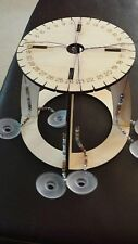 Kumihimo Loom Kit with stand for making jewelry, bracelets, beads Laser Cut Wood