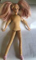 2001 Dream Glow Bedtime Barbie Soft Stuffed Fabric Body Vinyl Head No Clothes