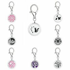 30MM new magnetic alloy pendant  essential oil diffuser key chain key ring