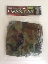 Decorative Camouflage Halloween Banner Gothic Collection Forest Green 6' x 4'
