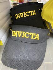 Invicta Hat Unisex Adjustable Black &  Yellow Visor