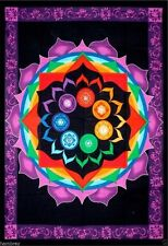 LARGE CHAKRA RAINBOW THROW BY GREEN TREE ETHNIC NEW AGE REIKI HOME