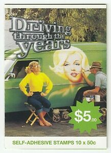 2006 STAMP BOOKLET 'DRIVING THROUGH THE YEARS - HOLDEN SANDMAN' 10 X 50c MNH