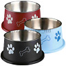 Trixie Stainless Steel Long Ear Dog Water Food Bowl Non Slip Rubber Base 19cm