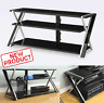 65 Inch TV Stand Flat Panel w/ 3 Shelves Entertainment Center Console Black NEW