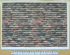 """Dolls house 1/12th scale """"Roof tiles - old flat clay type""""  paper - A4 sheet"""