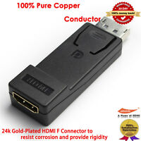 Displayport to HDMI adaptor Full HD 1080p| DP to HDMI Audio Video for Dell PC