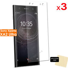 3 Pack of CLEAR LCD Screen Protector Cover Guards for Sony Xperia XA2 Ultra