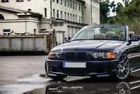 schwarz glänzende Nieren 3er BMW E46 Cabrio VFL Frontgrill salberk 4603