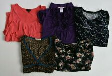 Lot Of 5 Womens Size Small Tops Short Sleeve Tank Tops Summer Spring Blouses