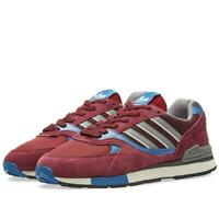 adidas ORIGINALS QUESENCE TRAINERS MAROON SHOES SNEAKERS RETRO FOOTBALL CASUALS