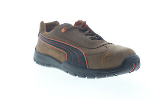Puma Indy Low 642205 Mens Brown Nubuck Leather Low Top Lace Up Work Boots