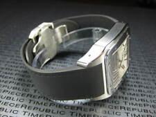 New 20mm PU Rubber Strap CARTIER SANTOS 100 Medium Diver Watch Band Black