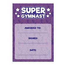 16 A6 Super Gymnastics Special Award Certificates / Childrens Reward