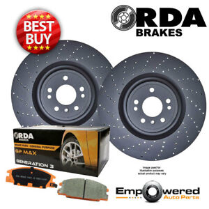 DRILLED REAR BRAKE ROTORS + PADS for Mercedes Benz ML63AMG 5.5L 4/2012-9/2015