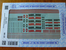 Microscale Decal HO  #87-98 CB&Q Diesels - E-Units Dates:1945-70