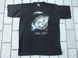 T-shirt russe Gagarine HOMME ESPACE astronaute soviétique 1961-2011 URSS S N 123