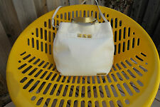 Authentic Marc Jacobs Purse with While and Gold Leather-Hobo Bag