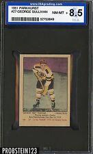 1951 Parkhurst Hockey #27 George Sullivan Boston Bruins ISA 8.5 NM-MT+
