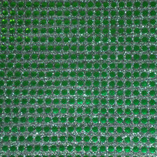 SEQUIN MESH-GREEN -DRESS FABRIC-FREE P&P