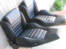 PORSCHE 911 912 930 TURBO SPORT SEAT KIT NEW SPORT UPHOLSTERY BLACK BEAUTIFUL