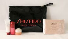 Shiseido Ginza Make-Up Pouch & Travel Size Skin Care 4 Samples