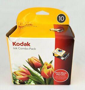 Original Sealed KODAK 10 Series BLACK & COLOR Ink Cartridge Combo Pack 2008 NIB