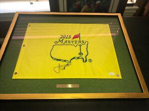 Jordan Spieth 2015 Masters Pin flag Custom Framed JSA Authentic