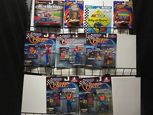 JEFF GORDON Lot of 9 action figures NASCAR Racing toy cars Micromachines