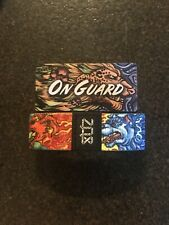 Medium ZOX Silver Strap ON GUARD Wristband with Card Reversible Cheetah NEW