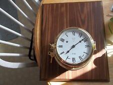 used German made hermle Norfolk ships bell clock mounted