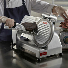 New 10 Commercial Manual Gravity Feed Electric Countertop Meat Slicer 14 Hp