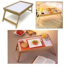 GRANDE letto in legno di bambù che serve COLAZIONE Lap Cibo CENA TAVOLA VASSOIO Pieghevole Gamba