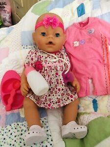 Baby Born Magic Eyes With Magic Dummy Bottle /extra Outfit/dish & Nappies