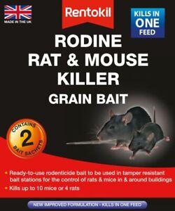 Rentokil Rodine Rat & Mouse Killer Grain Bait 2/4/6 Sachet Packs