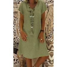Casual Plus Size Women Summer Style Feminino Vestido T-shirt Cotton Ladies Dress
