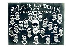 ST. LOUIS CARDINALS  8X10 TEAM PHOTOS LOT OF 4  1926 1928 1931 1934 WORLD SERIES