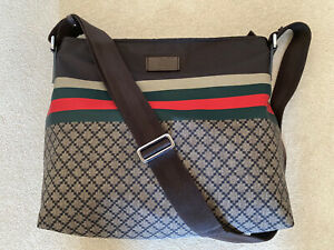Authentic Gucci Diamante Nylon Messenger Bag