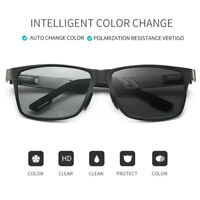Aluminum Mens Polarized Photochromic sunglasses Pilot Chameleon Driving Glasses