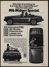 1976 MG MIDGET Special Convertible Sports Car & Pretty Woman VINTAGE AD