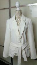 Vero Moda Women's Light Cream Off White  Suit Jacket Size uk12 (42)