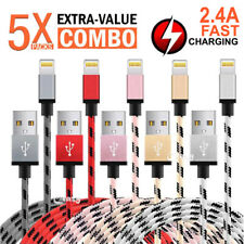5x For Apple iPhone 8 7 6 Plus X XS Max XR iPad Lightning Charging Charger Cable