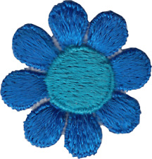 """Daisy Flower Blue /& Red Hippy Hippie Sixties 1960s 1.5/"""" Iron On #51055 Patch"""